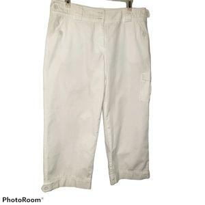 Capri cargo side pocket pants